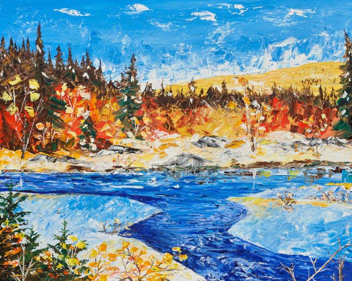 La Rivière à l'Eau Claire - huile sur toile - 24x30pouces - disponible