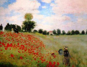 peinture inspirante Claude Monet - Les Coquelicots blog LiliFlore