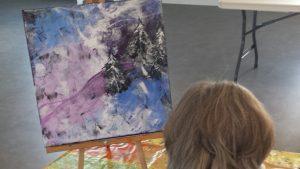 photos eleves cours de peinture liliflore saint-sauveur laurentides
