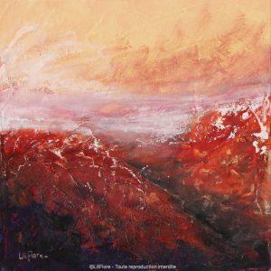 Quand même le silence se cache (Atacama, Chili) - Acrylique sur toile -10x10pouces - disponible - LiliFlore - peinture contemporaine - abstraction lyrique