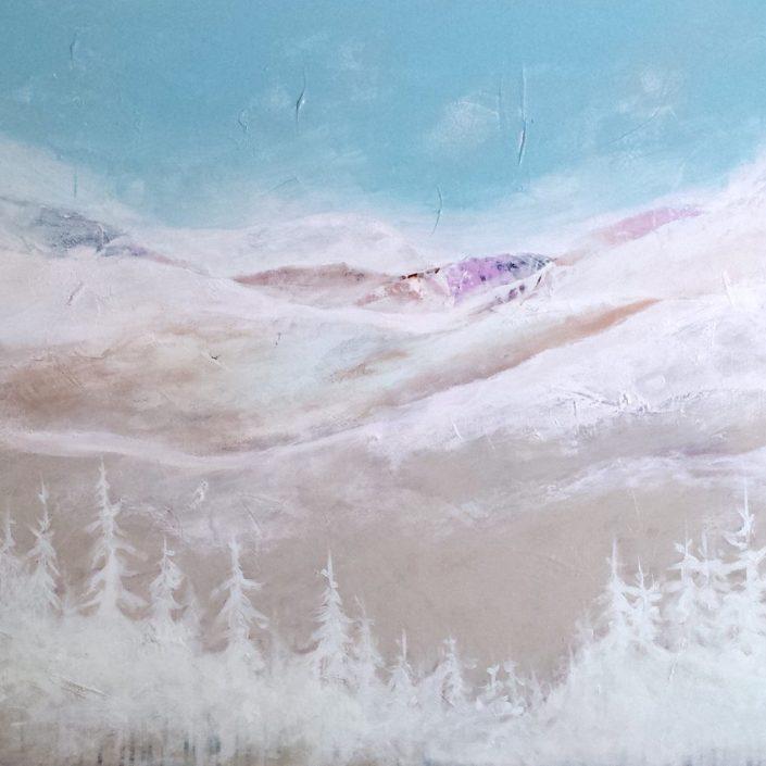Contemplation - acrylique sur toile -30x48pouces - disponible - LiliFlore - peinture acrylique contemporaine