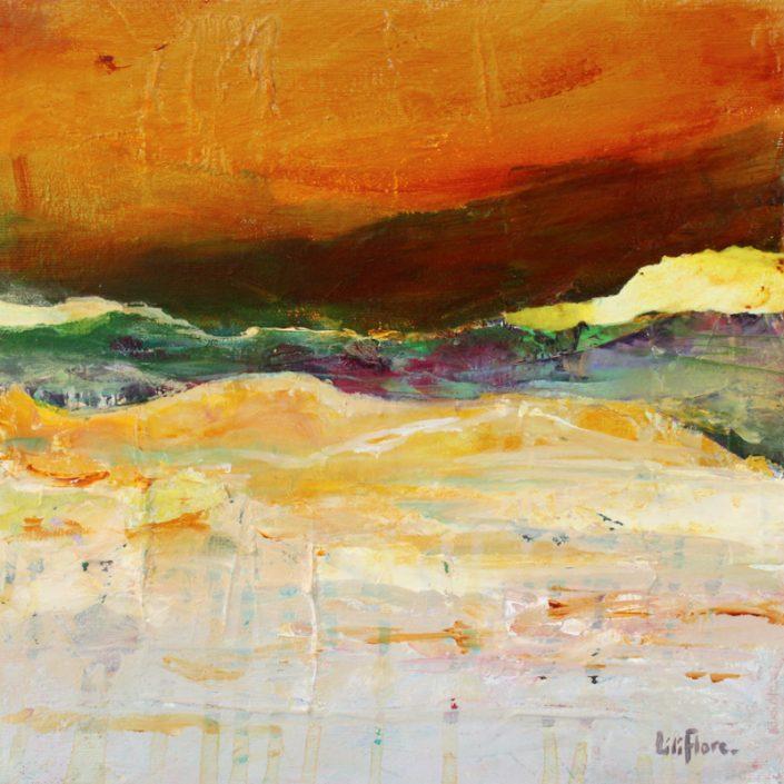 Imagine - acrylique sur toile -10x10pouces - vendue - LiliFlore