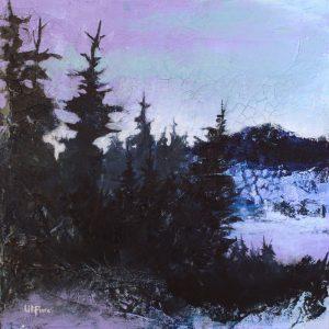 L'Heure du Loup - acrylique sur toile - 12x12pouces - disponible - LiliFlore