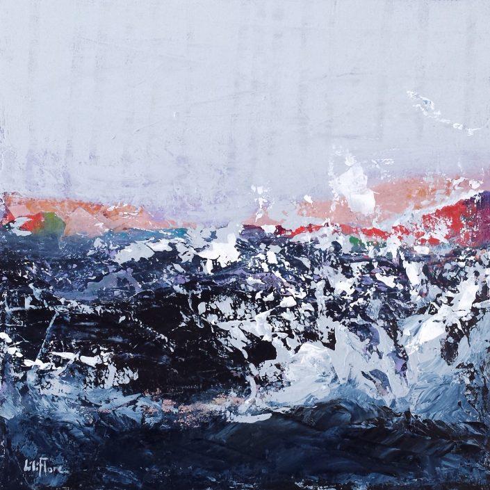 L'incomprise - acrylique sur toile -12x12pouces - disponible - LiliFlore - peinture acrylique contemporaine