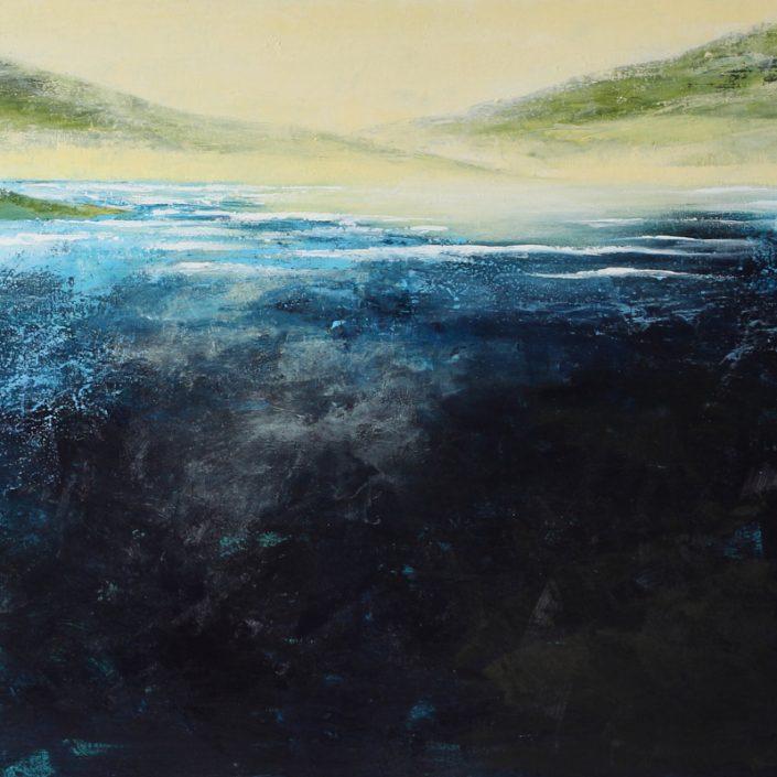 Mon Refuge - acrylique sur toile - 24x36pouces - disponible - liliflore - peinture acrylique - saint-sauveur