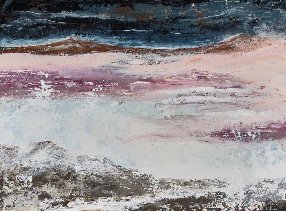 Le Vent se lève - acrylique sur toile - 18x24pouces - disponible - LiliFlore