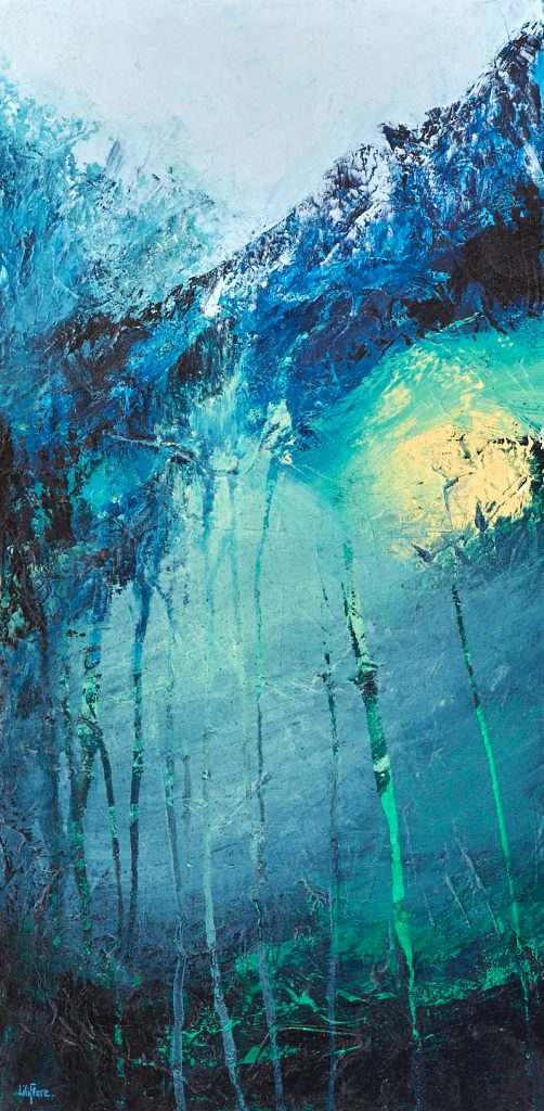 Ascension - acrylique sur toile - 12x24pouces - vendu - LiliFlore