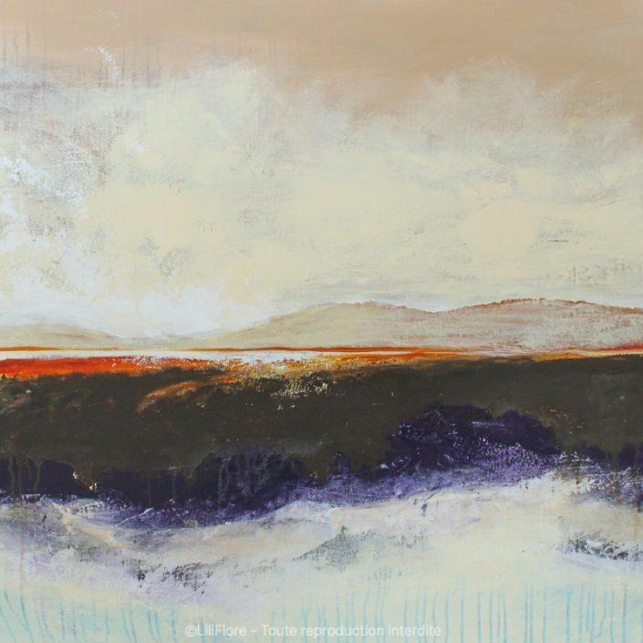 Mon rêve me tend les bras - acrylique sur toile -36x48pouces - disponible - LiliFlore - peinture acrylique contemporaine