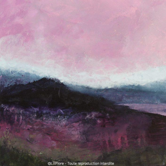 Avant la nuit - Acrylique sur toile -12x12pouces - disponible - LiliFlore - peinture acrylique contemporaine -2019
