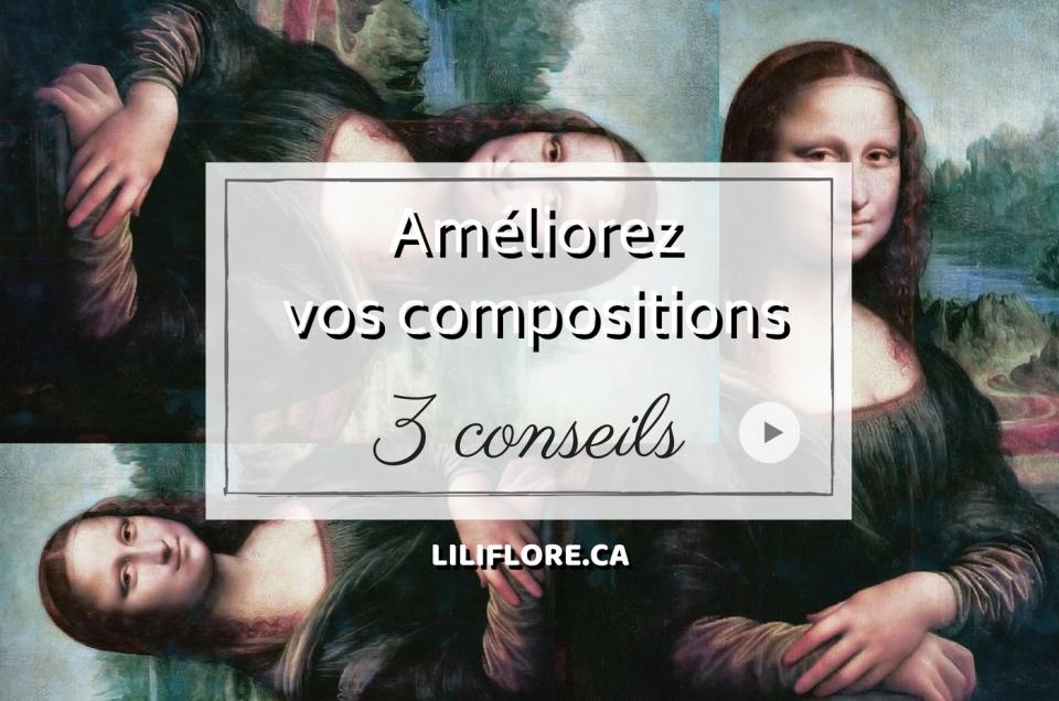 Comment améliorer ses compositions en peinture. Cours de peinture acrylique. 3 conseils. Avec LiliFlore, professeure de peinture, Laurentides, Val-David