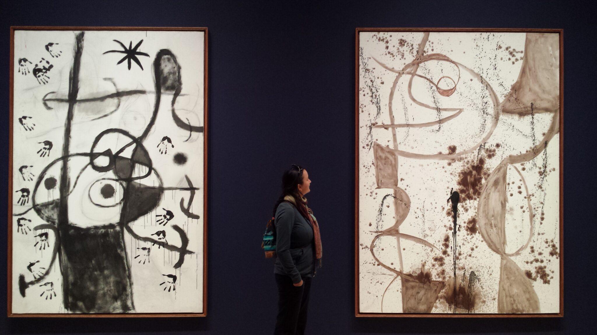 Photo de l'exposition Miro, un esprit libre, avec LiliFlore et Bruno Larue
