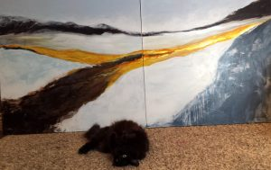 artiste peintre laurentides peinture contemporaine Odyssée LiliFlore (reproduction interdite)