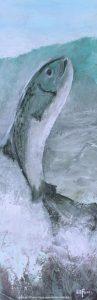 Peinture contemporaine artiste peintre Laurentides LiliFlore poisson Ghsilaine