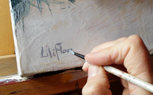 signature toile LiliFlore
